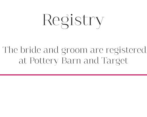 Pattern Stripes Registry Cards