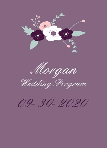 Fantastically Floral Wedding Programs