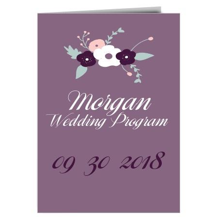 The Fantastically Floral Wedding Program