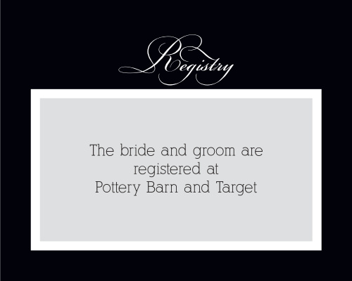 Simple Elegance Registry Cards