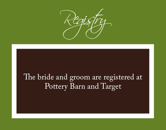 The Initials Square Registry Cards