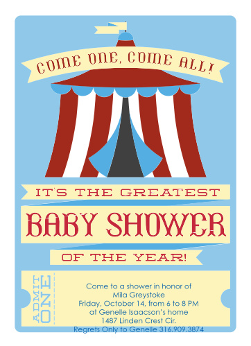 Carnival Baby Shower Invitations Match Your Color Style Free