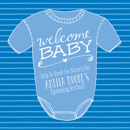 9c7e0679e Onesie Baby Shower Invitations - Match Your Color & Style Free!