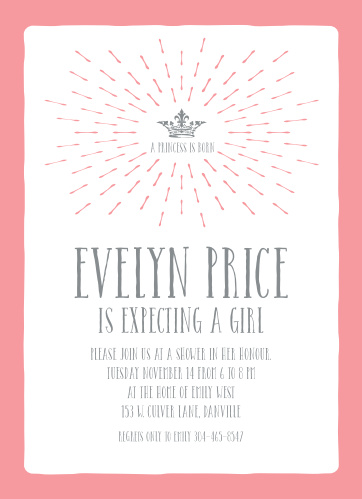 Princess Baby Shower Invitations Match Your Color Style Free