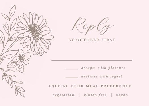 Elegant Gerber Daisy RSVP Cards