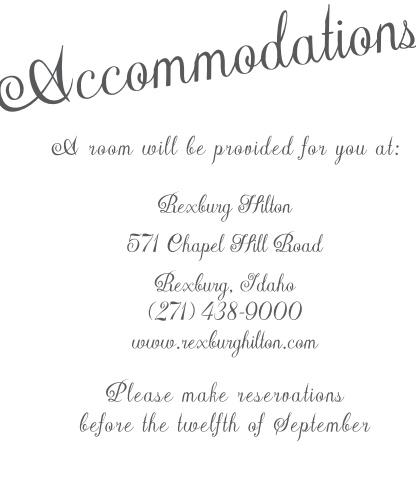 Plain Elegance Accommodation Cards