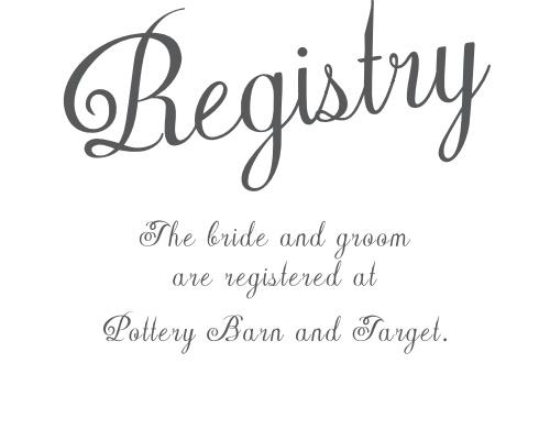 Plain Elegance Registry Cards