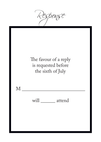 Timeless Classic RSVP Cards