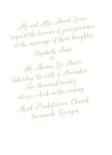 Calligraphic Slant Wedding Invitations