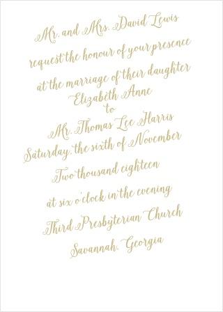 The Calligraphic Slant Wedding Invitation
