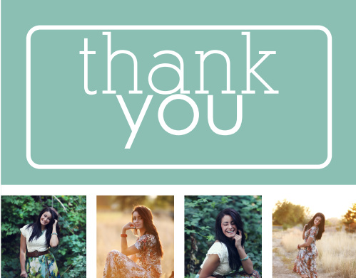 College Collage Graduation Thank You Cards