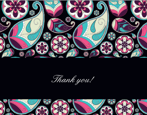 Crazy Paisley Graduation Thank You Cards