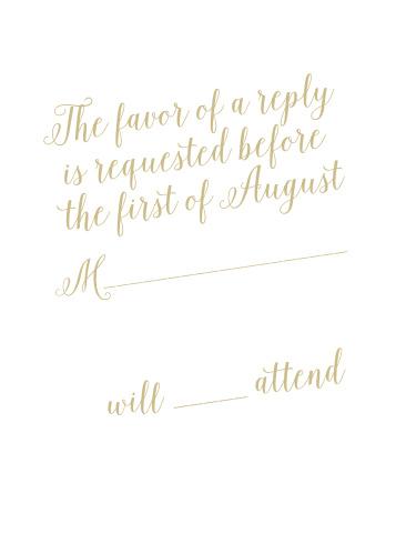 Calligraphic Slant Response Cards