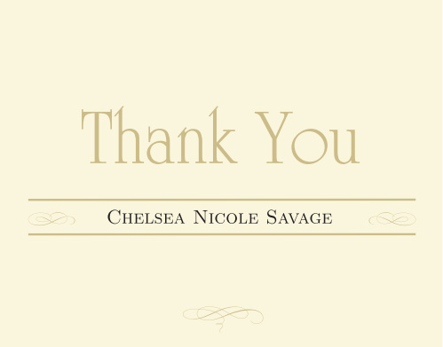 Elegance Graduation Thank You Cards