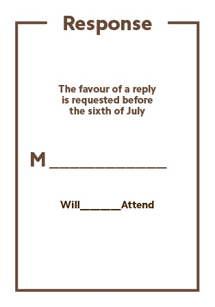 The Have & to Hold RSVP Cards
