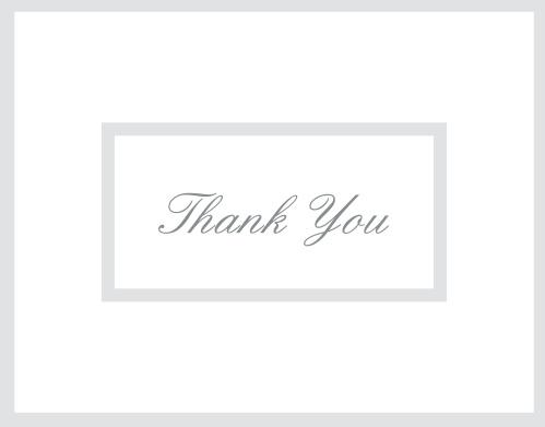 Elegantly Framed Graduation Thank You Cards