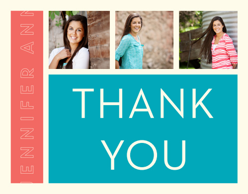 Fine Lines Graduation Thank You Cards