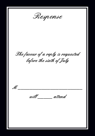 Classic Sophistication RSVP Cards