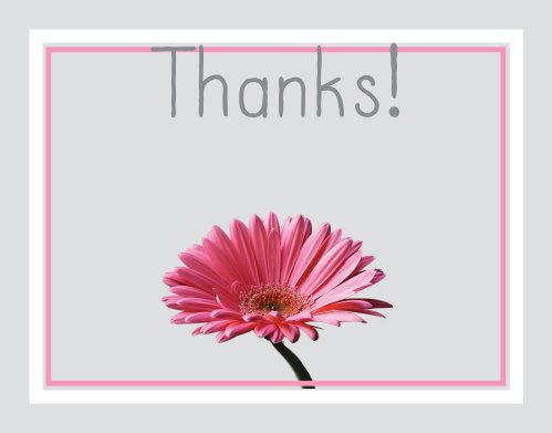 Gerber Daisy Graduation Thank You Cards