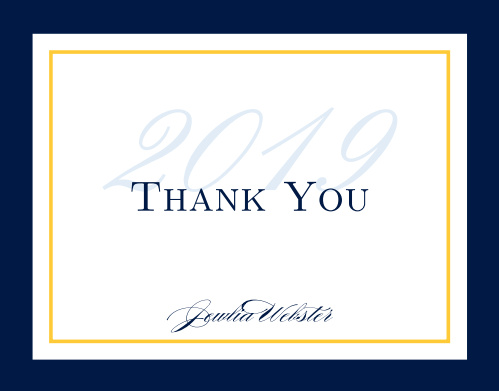 Moving On Graduation Thank You Cards