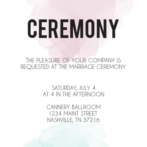 Watercolor Dip Ceremony Cards