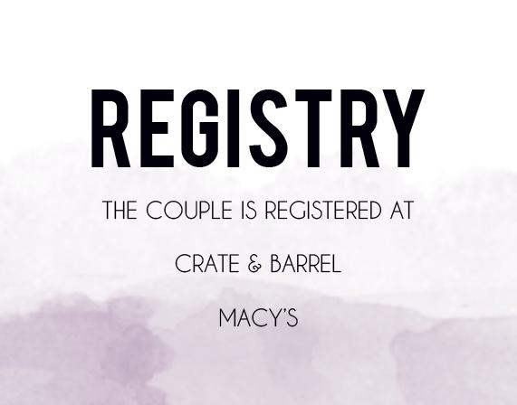 Watercolor Dip Registry Cards