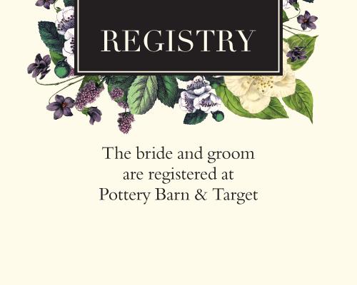 Vintage Botanical Registry Cards