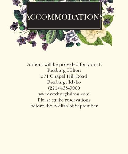 Vintage Botanical Accommodation Cards