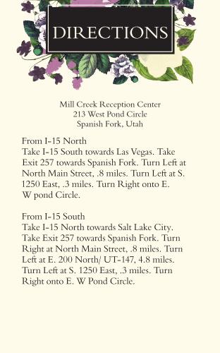Vintage Botanical Direction Cards
