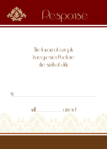 Old Fashioned Charm RSVP Cards