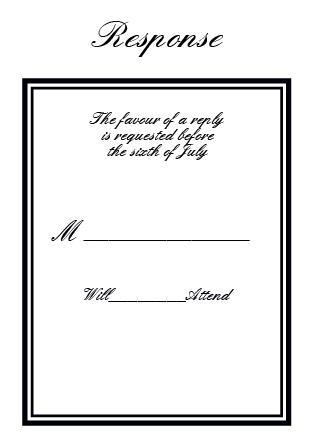 The Formal Ticket RSVP Cards