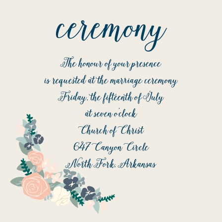 The Illustrated Corner Wreath Ceremony Cards