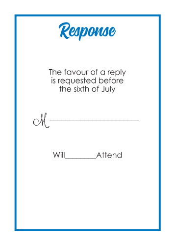 Perfect Match RSVP Cards