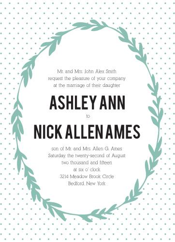 Simple Wreath Wedding Invitations