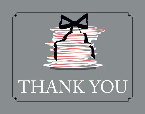 Pancakes & Panties Bridal Shower Thank You Cards