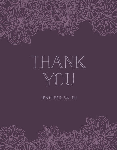 paisley retro bridal shower thank you cards