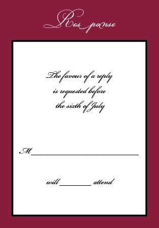 Simply Formal RSVP Cards