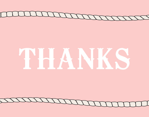 Girl Western Thank You Cards