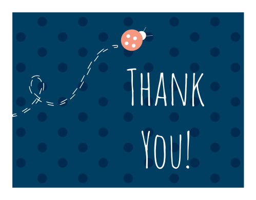 Ladybug Little One Thank You Cards