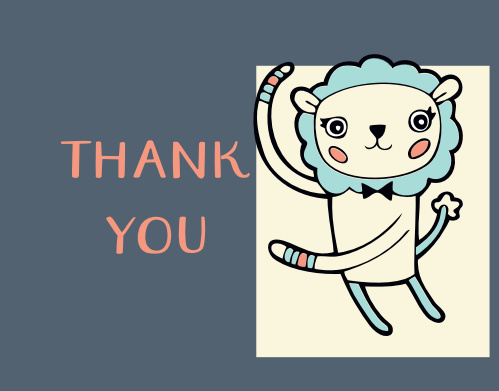 Mirrored Lions Thank You Cards