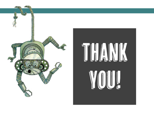 Mechanical Monkey Thank You Cards
