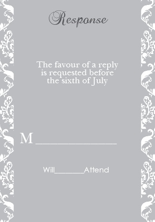 The Damask Sides RSVP Cards