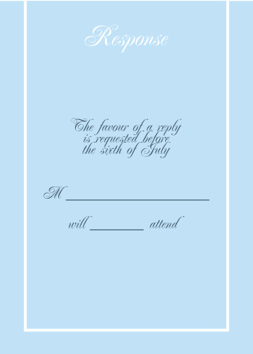Simple Border RSVP Cards