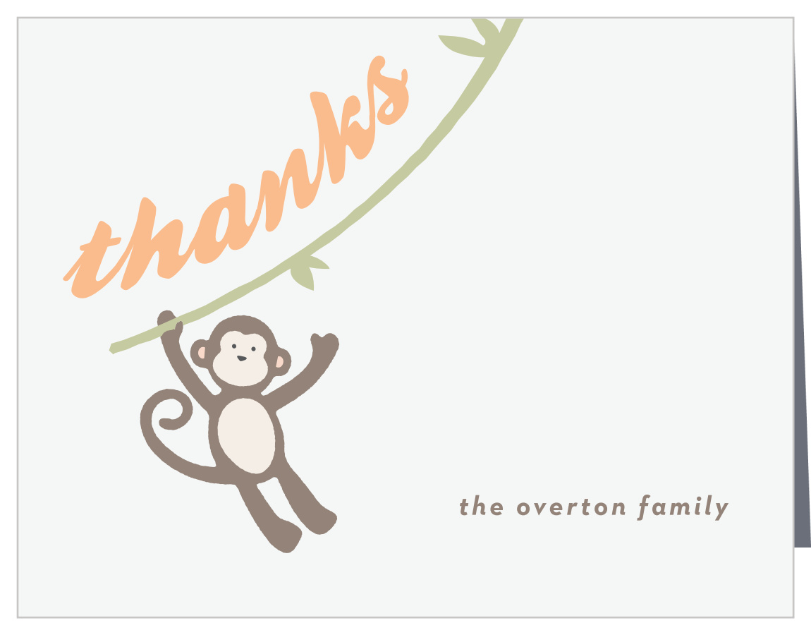 Amazing Monkeyn Around Baby Shower Thank You Cards Complete Home Design Collection Epsylindsey Bellcom