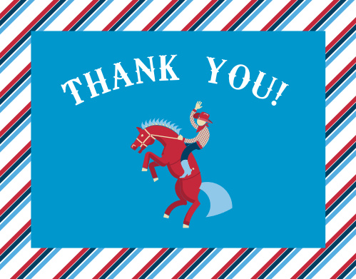 Rodeo Cowboy Baby Shower Thank You Cards