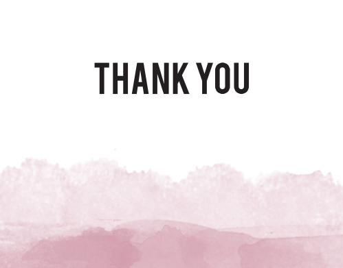 Watercolor Dip Thank You Card