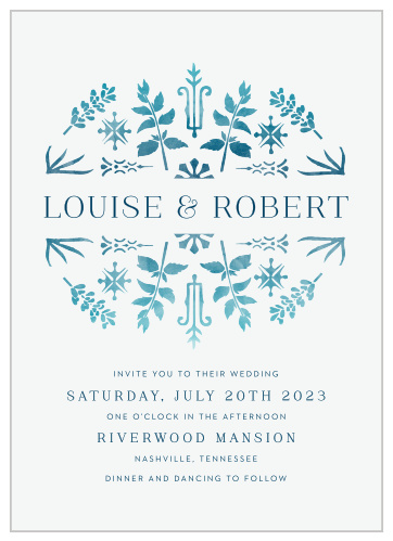 Painted Floral Wedding Invitations By Basic Invite
