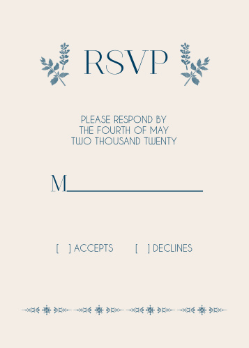 Painted Floral Response Cards