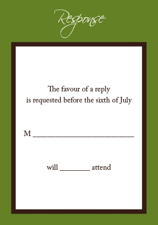 The Initials Square RSVP Cards