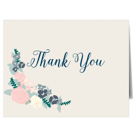 The Illustrated Corner Wreath Thank You Card